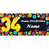 BALLOON 34TH BIRTHDAY CUSTOMIZED BANNER PARTY SUPPLIES