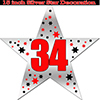 34TH SILVER STAR DECORATION PARTY SUPPLIES