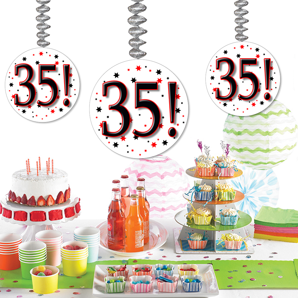 35th happy birthday party supplies 35 dangler for 35th birthday decoration ideas