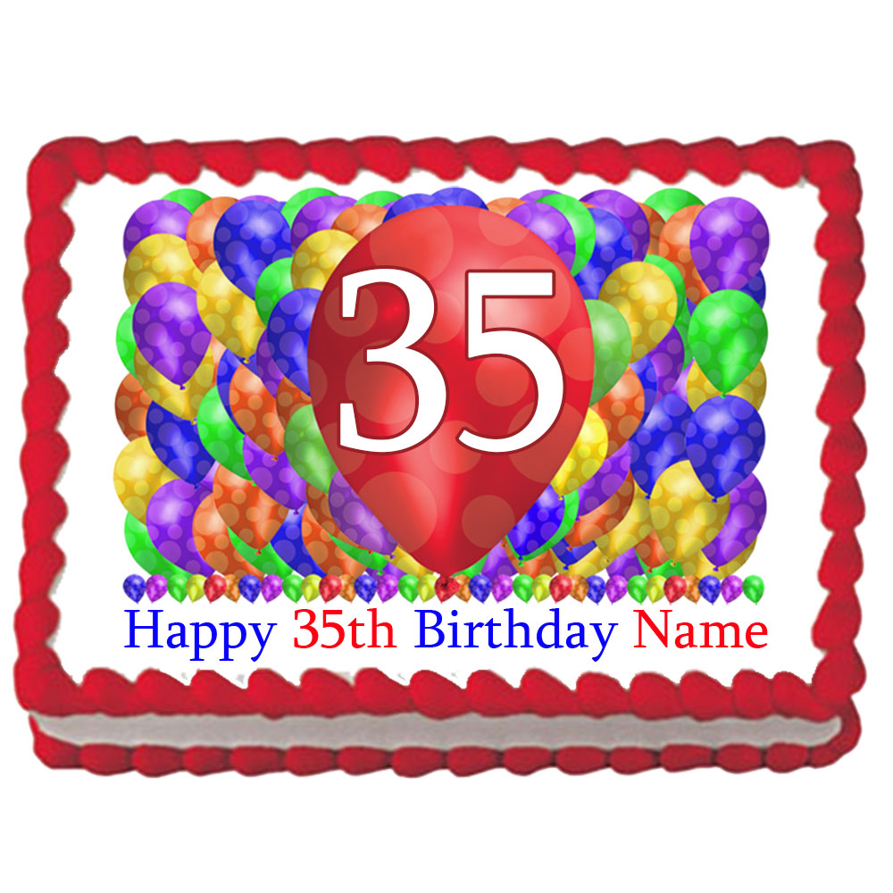 Click For Larger Picture Of 35TH BIRTHDAY BALLOON BLAST EDIBLE IMAGE PARTY SUPPLIES