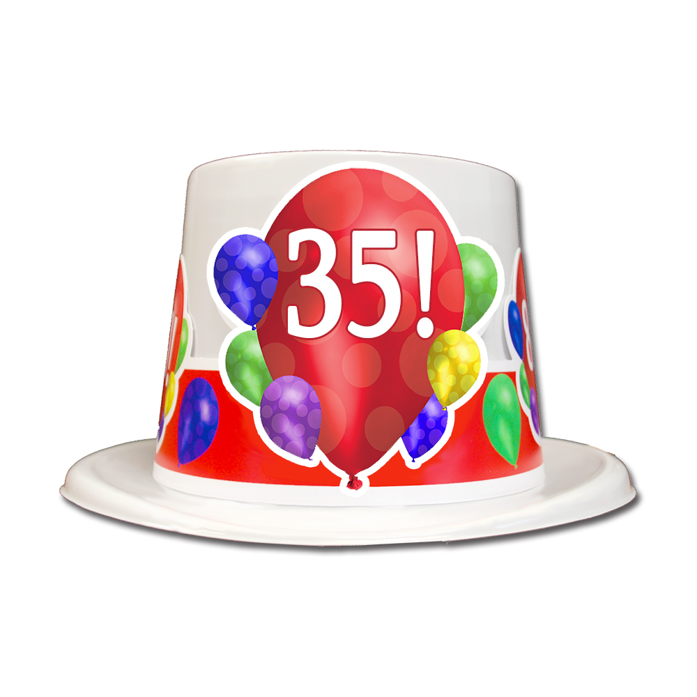 Click For Larger Picture Of 35TH BIRTHDAY BALLOON BLAST TOP HAT PARTY SUPPLIES