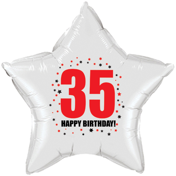 Click For Larger Picture Of 35TH BIRTHDAY STAR BALLOON PARTY SUPPLIES