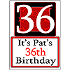 PERSONALIZED 36 YEAR OLD YARD SIGN PARTY SUPPLIES