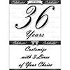 36 YEARS CLASSY BLACK DOOR BANNER PARTY SUPPLIES