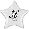 36 YEARS CLASSY BLACK STAR BALLOON PARTY SUPPLIES
