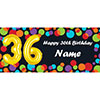 BALLOON 36TH BIRTHDAY CUSTOMIZED BANNER PARTY SUPPLIES