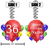 36TH BALLOON BLAST JUMBO CUSTOM DANGLER PARTY SUPPLIES