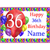 36TH BALLOON BLAST CUSTOMIZED PLACEMAT PARTY SUPPLIES