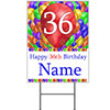 36TH CUSTOMIZED BALLOON BLAST YARD SIGN PARTY SUPPLIES