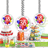 36TH BIRTHDAY BALLOON BLAST DANGLER PARTY SUPPLIES