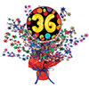 36TH BIRTHDAY BALLOON CENTERPIECE PARTY SUPPLIES