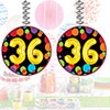 36TH BIRTHDAY BALLOON DANGLER PARTY SUPPLIES