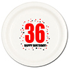 36TH BIRTHDAY DINNER PLATE 8-PKG PARTY SUPPLIES