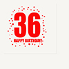 36TH BIRTHDAY LUNCHEON NAPKIN 16-PKG PARTY SUPPLIES