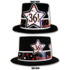 36TH BIRTHDAY TIME TO CELEBRATE TOP HAT PARTY SUPPLIES