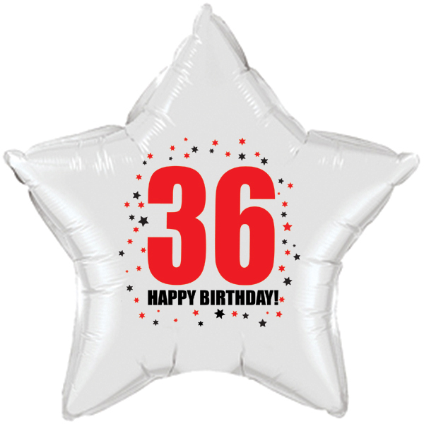 Click for larger picture of 36TH BIRTHDAY STAR BALLOON PARTY SUPPLIES