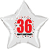 36TH BIRTHDAY STAR BALLOON PARTY SUPPLIES