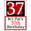 PERSONALIZED 37 YEAR OLD YARD SIGN PARTY SUPPLIES