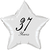 37 YEARS CLASSY BLACK STAR BALLOON PARTY SUPPLIES