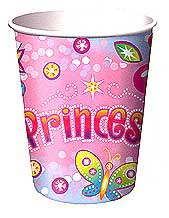Click for larger picture of DISCONTINUED PRINCESS HOT/CLD CUP (9OZ.) PARTY SUPPLIES