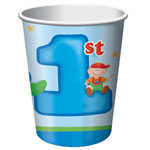 Click for larger picture of DISCONTINUED FUN AT ONE BOY 9OZ CUP PARTY SUPPLIES