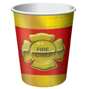Click for larger picture of DISCONTINUED FIREFIGHTER HOT/COLD CUP PARTY SUPPLIES