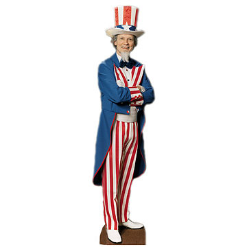 UNCLE SAM LIFESIZE STANDUP PARTY SUPPLIES