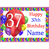 37TH BALLOON BLAST CUSTOMIZED PLACEMAT PARTY SUPPLIES
