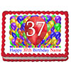 37TH BIRTHDAY BALLOON BLAST EDIBLE IMAGE PARTY SUPPLIES