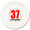 37TH BIRTHDAY DINNER PLATE 8-PKG PARTY SUPPLIES