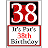PERSONALIZED 38 YEAR OLD YARD SIGN PARTY SUPPLIES