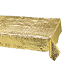 OPAL TBLTOP54X108 GOLD MT TABLCVR(12/CS) PARTY SUPPLIES