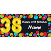 BALLOON 38TH BIRTHDAY CUSTOMIZED BANNER PARTY SUPPLIES