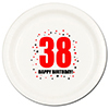 38TH BIRTHDAY DINNER PLATE 8-PKG PARTY SUPPLIES