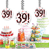 39! DANGLER DECORATION 3/PKG PARTY SUPPLIES