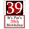PERSONALIZED 39 YEAR OLD YARD SIGN PARTY SUPPLIES