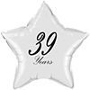 39 YEARS CLASSY BLACK STAR BALLOON PARTY SUPPLIES