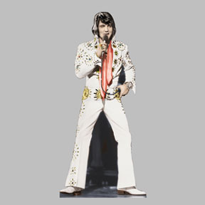 Click for larger picture of ELVIS PRESLEY-WHITE JUMPSUIT  STANDUP PARTY SUPPLIES