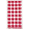 RED GINGHAM 54IN.X108IN. PLASTIC TABLEC PARTY SUPPLIES