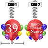 39TH BALLOON BLAST JUMBO CUSTOM DANGLER PARTY SUPPLIES