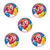 39TH BIRTHDAY BALLOON BLAST DECO FETTI PARTY SUPPLIES