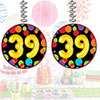 39TH BIRTHDAY BALLOON DANGLER PARTY SUPPLIES
