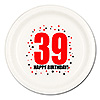 39TH BIRTHDAY DINNER PLATE 8-PKG PARTY SUPPLIES