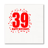 39TH BIRTHDAY LUNCHEON NAPKIN 16-PKG PARTY SUPPLIES