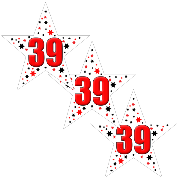 39TH BIRTHDAY STAR DECO FETTI PARTY SUPPLIES