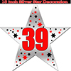 39TH SILVER STAR DECORATION PARTY SUPPLIES