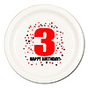 3RD BIRTHDAY DINNER PLATE 8-PKG PARTY SUPPLIES