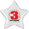 3RD BIRTHDAY STAR BALLOON PARTY SUPPLIES