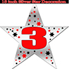 3RD SILVER STAR DECORATION PARTY SUPPLIES