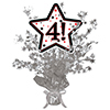 4! SILVER STAR CENTERPIECE PARTY SUPPLIES